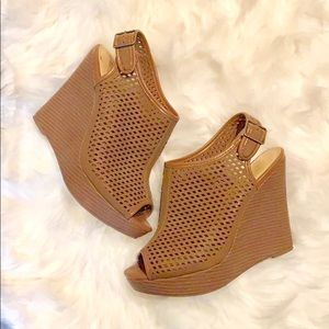 Shoes - NWOT open toe wedges